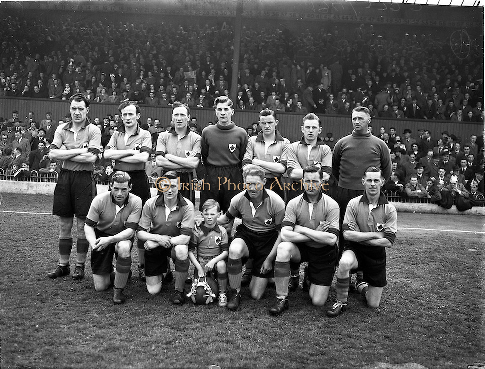 26/4/1953<br /> 4/26/1953<br /> 26 April 1953 <br /> FAI Cup Final, Cork v Evergreen, at Dalymount Park, Dublin. The game ended in a 2-2 draw. The Evergreen Team.