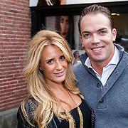 NLD/Amsterdam/20130110 - Opening TV Store Amsterdam, Chantal Bles en partner Robert Doornbos