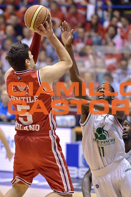 DESCRIZIONE : Milano Lega A 2013-14 EA7 Emporio Armani Milano vs Montepaschi Siena playoff Finale gara 7<br /> GIOCATORE : Alessandro Gentile<br /> CATEGORIA : Tiro<br /> SQUADRA : EA7 Emporio Armani Milano<br /> EVENTO : Finale gara 7 playoff<br /> GARA : EA7 Emporio Armani Milano vs Montepaschi Siena playoff Finale gara 7<br /> DATA : 27/06/2014<br /> SPORT : Pallacanestro <br /> AUTORE : Agenzia Ciamillo-Castoria/I.Mancini<br /> Galleria : Lega Basket A 2013-2014  <br /> Fotonotizia : Milano<br /> Lega A 2013-14 EA7 Emporio Armani Milano vs Montepaschi Siena playoff Finale gara 7<br /> Predefinita :