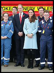 NOV 08 2014 The Duke and Duchess of Cambridge in Wales