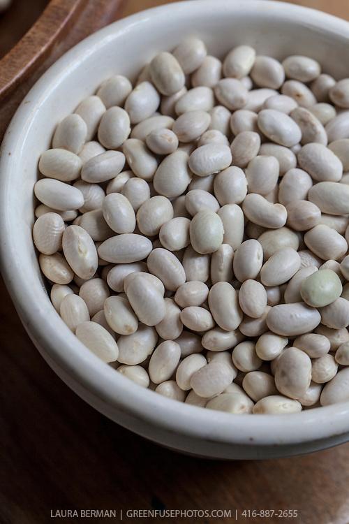Dried, heirloom 'Badaluca' beans