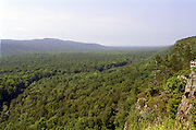 The Porcupine Mountain Wilderness State Park, in Michigan's Upper Peninsula, is vast and pristine. It contains one of the last stands of old growth forest in Michigan. Photographs simply cannot do justice to the beauty and immensity of this park.