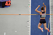 Ninon Guillon-Romarin competes in woemn pole vault during the European Championships 2018, at Olympic Stadium in Berlin, Germany, Day 1, on August 7, 2018 - Photo Philippe Millereau / KMSP / ProSportsImages / DPPI