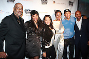 """l to r: Danny Simmons, Sandy """" Pepa"""" Denton, Cheryl """" Salt """"James Wray, Tange Murray, Russell Simmons and Derek 'D-Nice' Jones at The Rush Philanthropic 2nd Annual Gold Rush Awards Presented by Danny Simmons and Russell Simmons which was held at The Red Bull Space on March 18, 2010 in New York City. Terrence Jennings/Retna..The Gold Rush Awards celebrates and recognizes trailblazers in the Arts Industry who shape contemporary arts and culture across creative disciplines."""