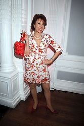 KATHY LETTE at the launch of Politics and The City - a new web site for women fusing politics with gossip, entertainment, news and fashion, held at the ICA, 12 Carlton House Terrace, London on 8th July 2008.<br />
