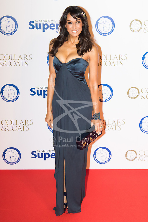 "Battersea, London, November 3rd 2016.  Celebrities and their dogs attend The Evolution at Battersea Park to attend The Battersea Dogs and Cats Home ""Collars and Coats Ball"". PICTURED: Jackie St Clair"