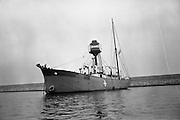 """Sea Scouts aboard the Lightship """"Albatross""""..1972..22.07.1972..07.22.1972..22nd July 1972..Pictured berthed in Dun Laoghaire Harbour is the Lightship """"Albatross""""..The """"Albatross was built by H.Robb,Leith,Scotland for the Commissioners of Irish Lights,Dublin. In 1970 the ship ,at the end of its working life,was sold to the Sea Scouts of Ireland for use as a Cadet Training Ship. Emblazoned on the side of the ship is the Scout Logo."""