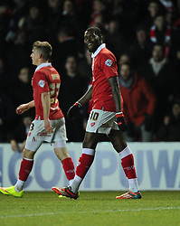 Bristol City's Jay Emmanuel-Thomas celebrates his goal  - Photo mandatory by-line: Joe Meredith/JMP - Mobile: 07966 386802 - 10/02/2015 - SPORT - Football - Bristol - Ashton Gate - Bristol City v Port Vale - Sky Bet League One