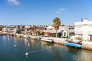 Waterfront Homes on Grand Canal of Balboa Island Newport Beach