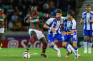 Portugal, FUNCHAL :Maritimo's Guinea midfielder Danilo Pereira  (L)  controls the ball  during Portuguese League football match Maritimo vs F.C. Porto at Barreiros Stadium in Funchal on January  25, 2015. PHOTO/ GREGORIO CUNHA