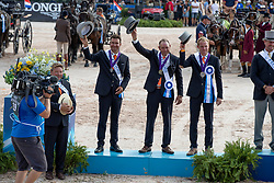 Team NED, Chardon Bram, De Ronde Koos, Chardon IJsbrand<br /> World Equestrian Games - Tryon 2018<br /> © Hippo Foto - Dirk Caremans<br /> 23/09/2018