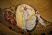 Mosaic depicts the risen Christ exiting the tomb inside the Basilica of the National Shrine of the Immaculate Conception in Washington, D.C. (Sam Lucero photo)