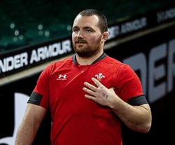 Ken Owens of Wales<br /> <br /> Photographer Simon King/Replay Images<br /> <br /> Six Nations Round 1 - Wales v Italy -  Captains Run - Friday 31st January 2020 - Principality Stadium - Cardiff<br /> <br /> World Copyright © Replay Images . All rights reserved. info@replayimages.co.uk - http://replayimages.co.uk