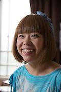 Konstnären Megumi Igarashi, som sedan fem år tillbaka går under pseudonymen Rokudenashiko. Tokyo, Japan.