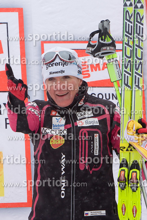 Third placed Petra Majdic of Slovenia at Medal ceremony after Ladies 1.4 km Free Sprint Competition of Viessmann Cross Country FIS World Cup Rogla 2009, on December 19, 2009, in Rogla, Slovenia. (Photo by Vid Ponikvar / Sportida)