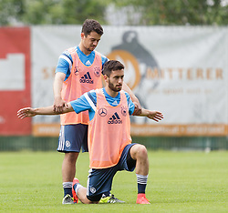 03.06.2015, Steinbergstadion, Leogang, AUT, U 21 EM, Vorbereitung Deutschland, im Bild v.l.: Amin Younes (1. FC Kaiserslautern, Deutschland U21) und Yunus Malli (FSV Mainz 05, Deutschland U21) // during Trainingscamp of Team Germany for Preparation of the UEFA European Under 21 Championship at the Steinbergstadium in Leogang, Austria on 2015/06/03. EXPA Pictures © 2015, PhotoCredit: EXPA/ JFK