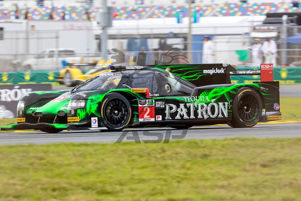 Daytona Beach, FL - Jan 22, 2014:  The Tudor United SportsCar Championship teams take to the track for a practice sessions for the Rolex 24 at Daytona International Speedway in Daytona Beach, FL.
