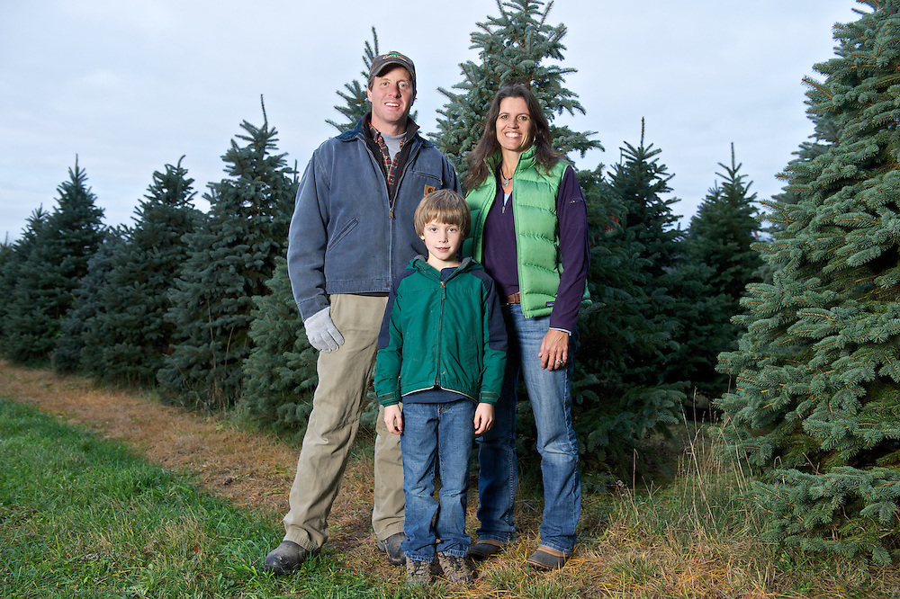 Photos taken for Crain's of Sugar Pines Farm of owners Fritz Jr. and jane Neubauer and their sons Fritz III and Sam in Chesterland, Ohio on November 5, 2012.