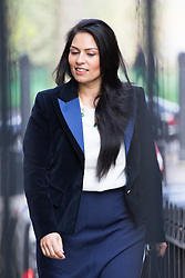 Downing Street, London, April 12th 2016. Employment Minister Priti Patel arrives at the weekly cabinet meeting. &copy;Paul Davey<br /> FOR LICENCING CONTACT: Paul Davey +44 (0) 7966 016 296 paul@pauldaveycreative.co.uk