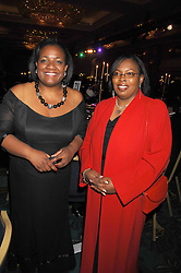 Left to right, DIANE ABBOTT MP and CAROL GLEN at the Eastern Eye Asian Business Awards 2007 in the presence of HRH The Duke of York at the Hilton Park Lane, London on 8th May 2007.<br />