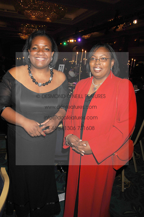 Left to right, DIANE ABBOTT MP and CAROL GLEN at the Eastern Eye Asian Business Awards 2007 in the presence of HRH The Duke of York at the Hilton Park Lane, London on 8th May 2007.<br /><br />NON EXCLUSIVE - WORLD RIGHTS