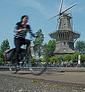 Bicycles rule the roadways in Amsterdam.