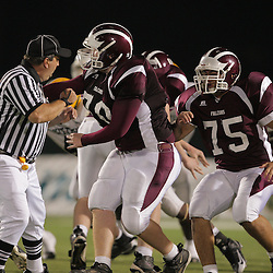 31 October, 2008:  St. Thomas Aquinas OT/DT Michael Recotta (#70) St. Thomas Aquinas G/LB Chris Boyle (#75) The St. Thomas Falcons recorded their first shut out of the season with a 41-0 shutout of the Southern Lab Kittens at Strawberry Stadium in Hammond, LA.