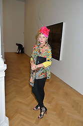 VICTORIA GRANT at a private view and auction of millinery organised by author, philanthropist and hat collector Eva Lanska in aid of Women for Women International held at Pace, Burlington Gardens, London on 10th June 2015.