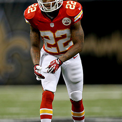 Aug 9, 2013; New Orleans, LA, USA; Kansas City Chiefs wide receiver Dexter McCluster (22) against the New Orleans Saints during a preseason game at the Mercedes-Benz Superdome. The Saints defeated the Chiefs 17-13. Mandatory Credit: Derick E. Hingle-USA TODAY Sports