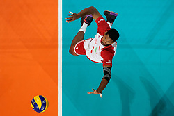 23-09-2019 NED: EC Volleyball 2019 Poland - Germany, Apeldoorn<br /> 1/4 final EC Volleyball Poland win 3-0 / Wilfredo Leon Venero #9 of Poland