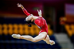 October 28, 2018 - Doha, Quatar - Huan Luo of  China   during  Floor qualification at the Aspire Dome in Doha, Qatar, Artistic FIG Gymnastics World Championships on 28 of October 2018. (Credit Image: © Ulrik Pedersen/NurPhoto via ZUMA Press)