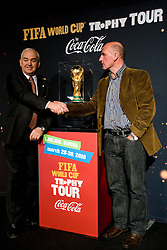 Franc Kopatin and Branko Oblak at VIP reception of FIFA World Cup Trophy Tour by Coca-Cola, on March 29, 2010, in BTC City, Ljubljana, Slovenia.  (Photo by Vid Ponikvar / Sportida)