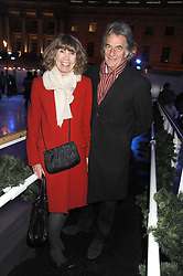 SIR PAUL & LADY SMITH at the opening of the Somerset House ice Rink for 2008 sponsored by Tiffany & Co held at Somerset House, The Strand, London on 18th November 2008.