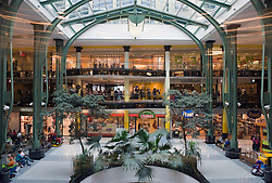 A view of the modern Zuid shopping center (South shopping center), from inside the glass elevator, in Ghent, Belgium, on Friday, Sept. 12, 2008. (Photo © Jock Fistick)