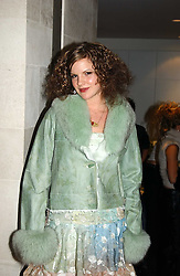 KATE SUMNER daughter of singer Sting at a fashion show of the new fashion label Chester Bonham held at the Aston Martin Showroom, Park Lane, London on 15th November 2004.<br />