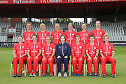 Lancashire Thunder squad during the media day for Lancashire Thunder at the Emirates, Old Trafford, Manchester, United Kingdom on 17 July 2018. Picture by George Franks.