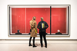 © Licensed to London News Pictures. 24/01/2018. London, UK. Photograph titled Review, 2015 by artist ANDREAS GURSKY is on display as part the first major UK retrospective of the German photographer. The showcase also marks the Haywood galleries 50th anniversary following its two year refurbishment. Photo credit: Ray Tang/LNP