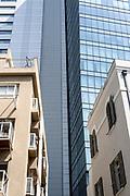 New and old in Rothschild boulevard, Tel Aviv, Israel