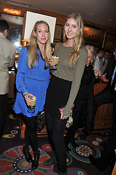 Left to right, the HON.EMILY LOPES and the HON.LOUISA LOPES at the Johnnie Walker Blue Label and David Gandy partnership launch party held at Annabel's, 44 Berkeley Square, London on 5th February 2013.