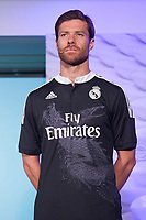 Xabi Alonso during the presentation of the Real Madrid's new Champions League kit at the Santiago Bernabeu stadium in Madrid, Spain. May 26, 2013. (ALTERPHOTOS/Victor Blanco)