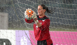 Hannah Reid goalkeeper for Bristol City Women warms up in the rain - Mandatory by-line: Robbie Stephenson/JMP - 25/06/2016 - FOOTBALL - Stoke Gifford Stadium - Bristol, England - Bristol City Women v Oxford United Women - FA Women's Super League 2
