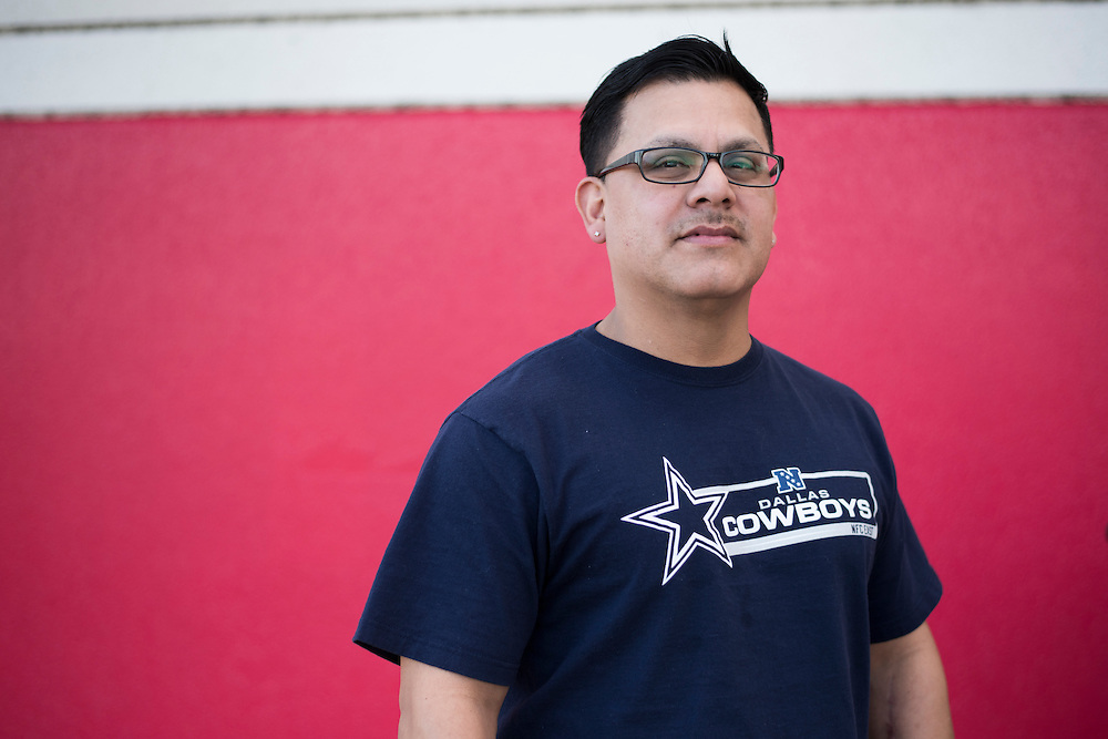 Ricardo Garza poses for a portrait in Arlington, Texas on February 9, 2016. (Cooper Neill for The Texas Tribune)