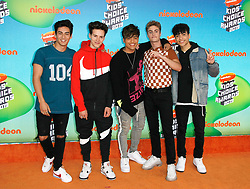 March 23, 2019 - Los Angeles, CA, USA - LOS ANGELES, CA - MARCH 23: Michael Conor, Sergio Calderon Jr., Drew Ramos, Chance Perez, Brady Tutton of In Real Life attend Nickelodeon's 2019 Kids' Choice Awards at Galen Center on March 23, 2019 in Los Angeles, California. Photo: CraSH for imageSPACE (Credit Image: © Imagespace via ZUMA Wire)