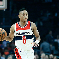 09 December 2017: Washington Wizards guard Tim Frazier (8) brings the ball up court during the LA Clippers 113-112 victory over the Washington Wizards, at the Staples Center, Los Angeles, California, USA.