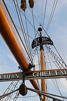Hawaiian Chieftain. A Square Topsail Ketch. Owned and operated by the Grays Harbor Historical Seaport, Aberdeen, Washington