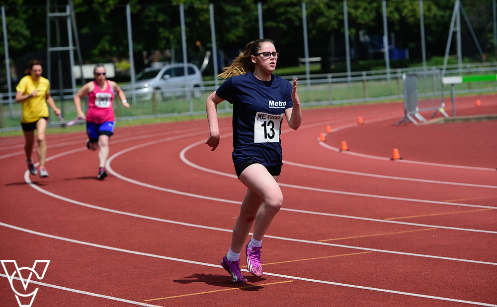 Metro Blind Sport's 2017 Athletics Open held at Mile End Stadium.  200m Senior Women.  Nell Doubledee<br /> <br /> Picture: Chris Vaughan Photography for Metro Blind Sport<br /> Date: June 17, 2017