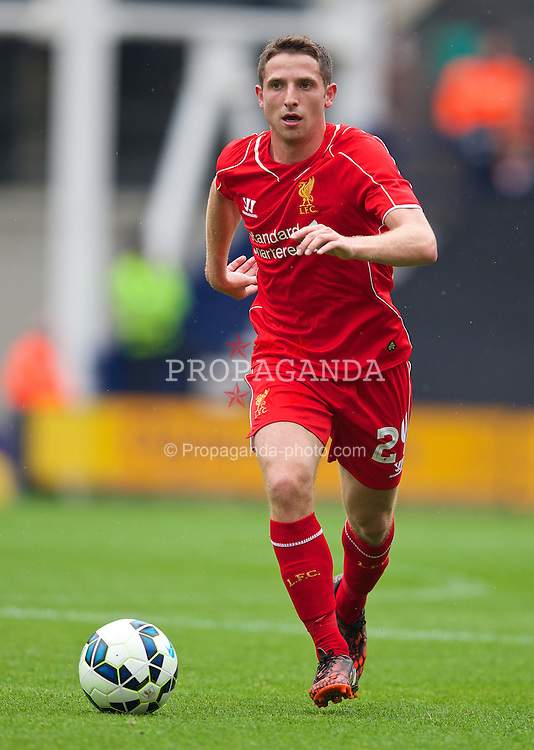 PRESTON, ENGLAND - Saturday, July 19, 2014: Liverpool's Joe Allen in action against Preston North End during a preseason friendly match at Deepdale Stadium. (Pic by David Rawcliffe/Propaganda)