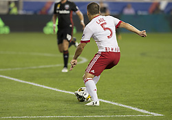 September 27, 2017 - Harrison, New Jersey, United States - Connor Lade (5) of Red Bulls controls ball during regular MLS game against DC United at Red Bull Arena Game ended in draw 3 - 3  (Credit Image: © Lev Radin/Pacific Press via ZUMA Wire)