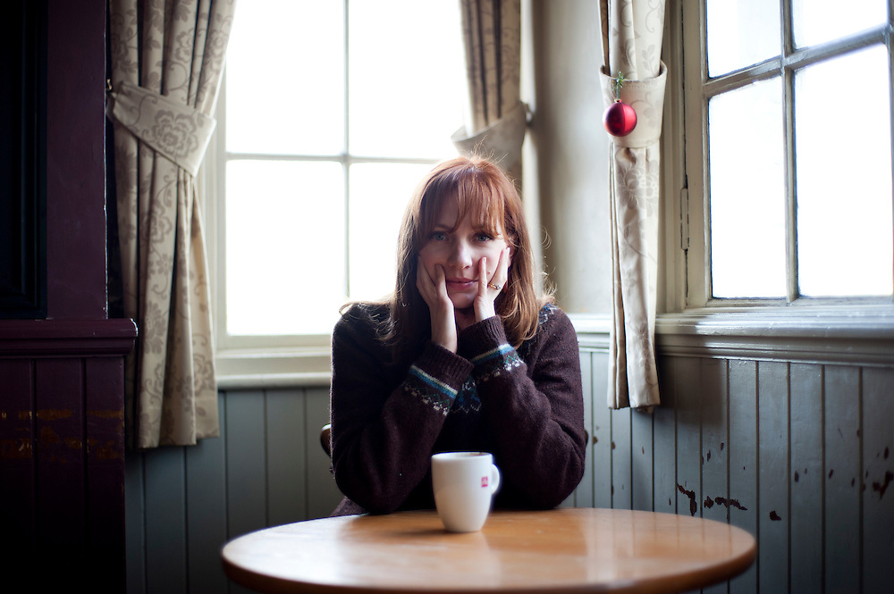 Comedian IT Girl  actor Katherine Parkinson poses for portraits at one of her local pubs near her home in Blackheath, SE London on November 25th 2011..