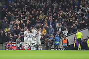 Tottenham Hotspur forward Son Heung-Min (7) celebrates with teammates after scoring a goal (1-0) during the Champions League match between Tottenham Hotspur and Bayern Munich at Tottenham Hotspur Stadium, London, United Kingdom on 1 October 2019.